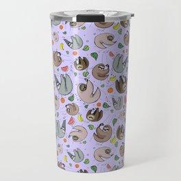 Pretty Sloth Pattern Travel Mug