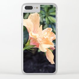 Jane Cowl Tropical Hibiscus Side Profile Clear iPhone Case
