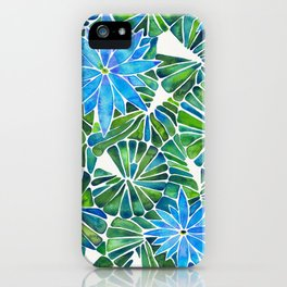 Water Lilies – Blue & Green Palette iPhone Case