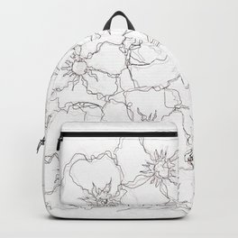Floral Abstract Sketch Backpack