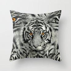 TIGER PAW-TRAIT Throw Pillow