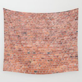Plain Old Orange Red London Brick Wall Wall Tapestry