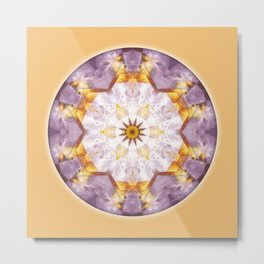 Mandalas from the Heart of Transformation 12 Metal Print