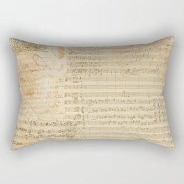 Classical music notations Rectangular Pillow