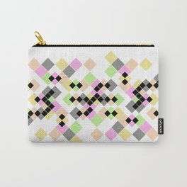 Abstract geometric pattern. Small colored squares on white. Carry-All Pouch