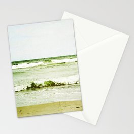 emerald waves Stationery Cards