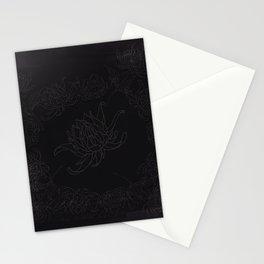 Obsidian Dahlia Stationery Cards