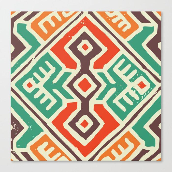 Ancient totem pattern Canvas Print
