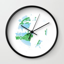 Paint The World Paintball Player Paintball Marker Gift Wall Clock