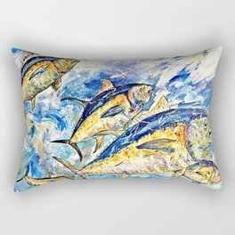 Golden Tuna Rectangular Pillow