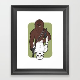 Chewbacca and Stormtrooper Framed Art Print
