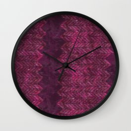 Painted Chevron Wall Clock