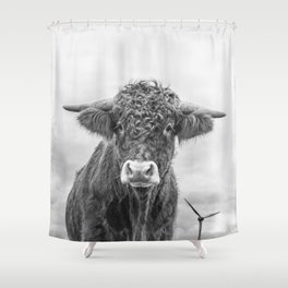 Size Is Relative Shower Curtain