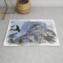Mt Rundle & Raven (Canadian Rockies) Rug