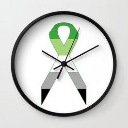 Aromantic Ribbon Wall Clock