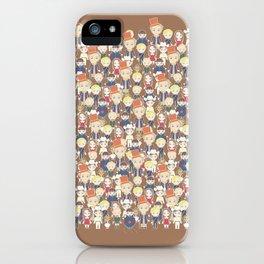 Willy Wonka Pattern iPhone Case