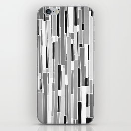 Stacked BW iPhone Skin