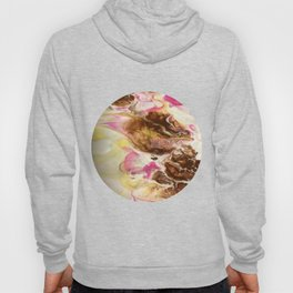 Chocolate with Pink and Yellow Marble Hoody