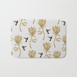 Hummingbird & Flower I Bath Mat