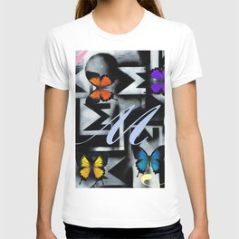 Monarch Butterfly Modern Abstract Painting Rainbow Art T-shirt
