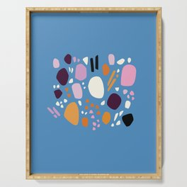 Composition No. 1 Blue Serving Tray