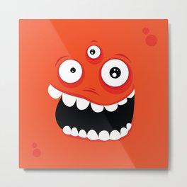 Psychos - Crazy Monsters (Orange) Metal Print