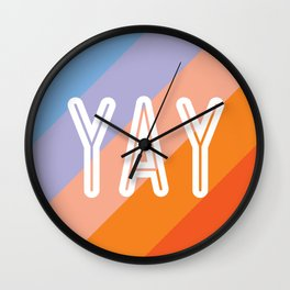 YAY Sunset Gradient Wall Clock