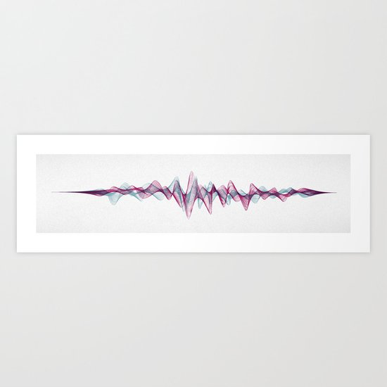 Stereowave Art Print