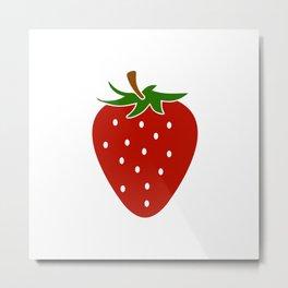 Strwaberry Metal Print