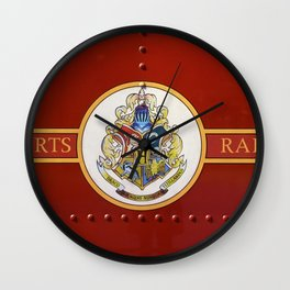 Red  Hp Wall Clock