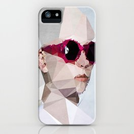 Couple with Glasses (Her) - Kubistika by Boris Draschoff iPhone Case