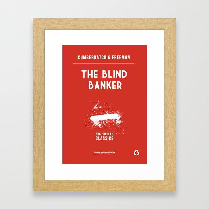 BBC Sherlock The Blind Banker Minimalist Poster Framed Art Print
