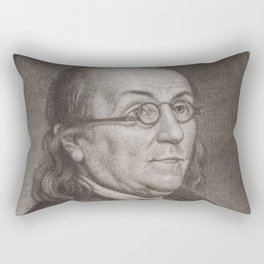 Vintage Portrait of Ben Franklin (1787) Rectangular Pillow