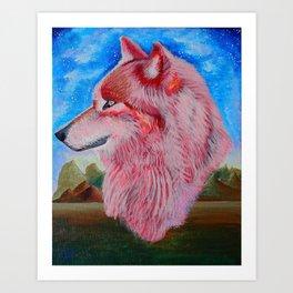 Love Wolf Art Print