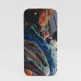 Dutch Harbor Fishing Nets and Boats iPhone Case