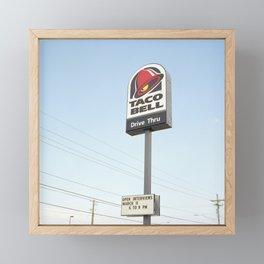 Taco Bell Drive Thru Framed Mini Art Print