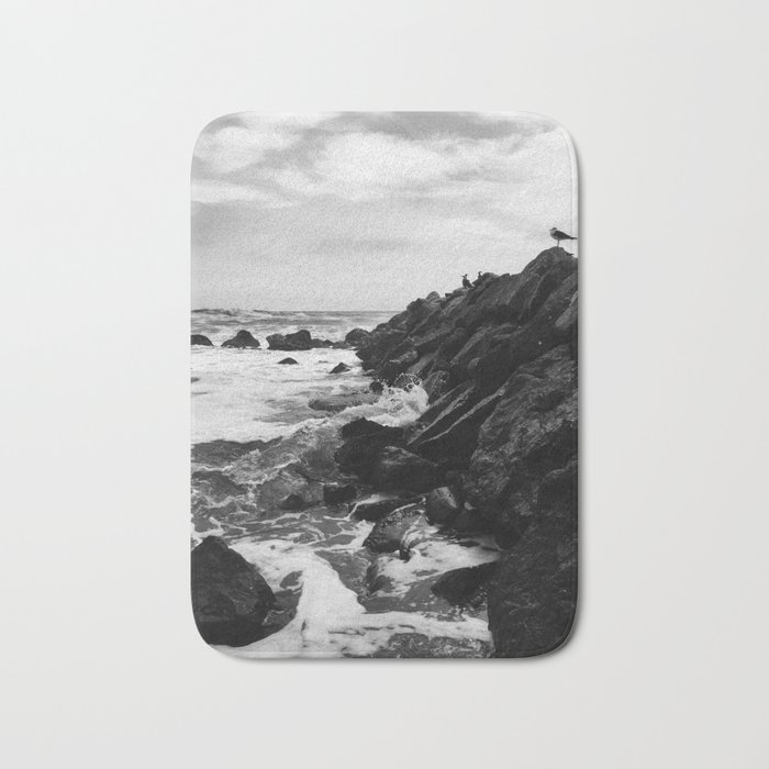 Dark beach Bath Mat