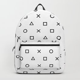 Playstation Controller Pattern (Black on White) Backpack