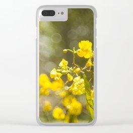 Popcorn Flower Bokeh Delight Clear iPhone Case