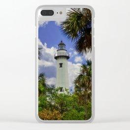 Saint Simonds Island Lighthouse Clear iPhone Case