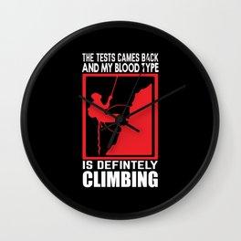 Mountaineer climber Wall Clock