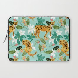 Cheetah Jungle #illustration #pattern Laptop Sleeve