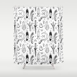 Accoutrements - white Shower Curtain