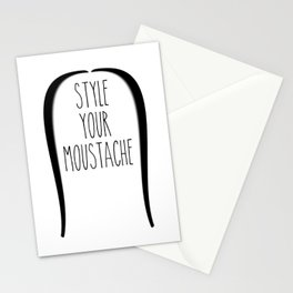 Style your moustace - 1 Stationery Cards