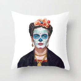 Frida Catrina Sugar Skull Throw Pillow