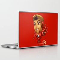 house stark Laptop & iPad Skins featuring Tiny Stark by garciarts