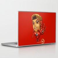 stark Laptop & iPad Skins featuring Tiny Stark by garciarts