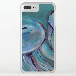 Striated Jelly Moon Clear iPhone Case