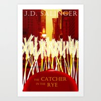 catcher in the rye Art Prints featuring Holden, the Rye, and NYC by naturalhaven