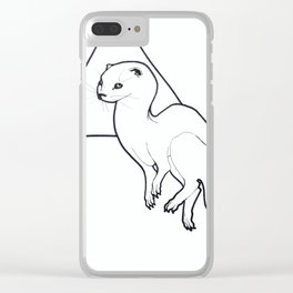 Triangle Otter Clear iPhone Case